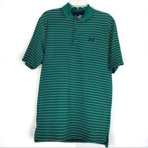 Under Armour HeatGear Loose Fit Golf Shirt Stripes